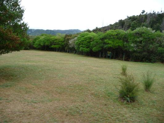 Abel Tasman NP - Lúka určená pre kempovanie