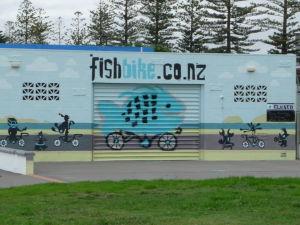 Napier - plážová promenáda - požičovňa bicyklov