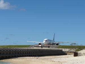 Stroj Air New Zealand sa pripravuje na odlet