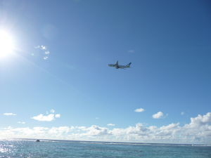 Odlietajúci stroj Air New Zealand