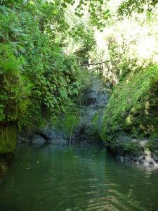Jazierko s vodopádom na konci treku