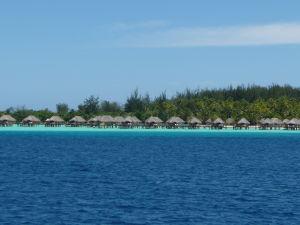 Typické bungalovy na Bora Bora