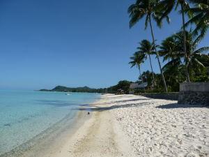 Verejná pláž na Bora Bora