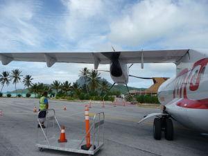 Lietadlo Air Tahiti pristálo na Bora Bora