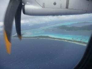 Bora Bora z lietadla