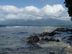 Pohľad na menší ostrov, Tahiti Iti