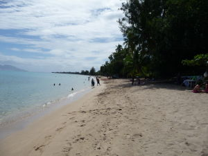 Tahiti - Pláž s bielym pieskom