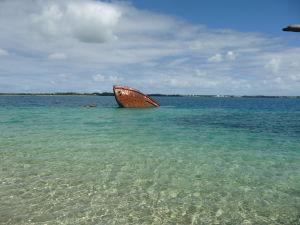 Vraky lodí na Tonge