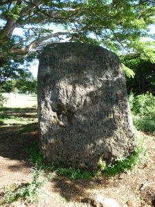 Kameň na archeologickom nálezisku Ha'amonga 'a Maui