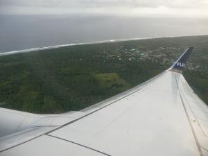 Prílet na Tongu