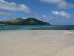 Kokosová pláž na Tavewe - Oproti Korytnačí ostrov (Turtle Island) známy z filmu Modrá lagúna
