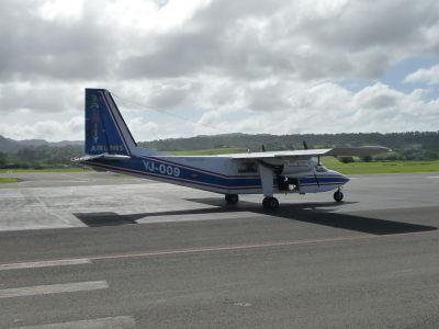 A toto lietadielko nás prepravilo medzi ostrovmi