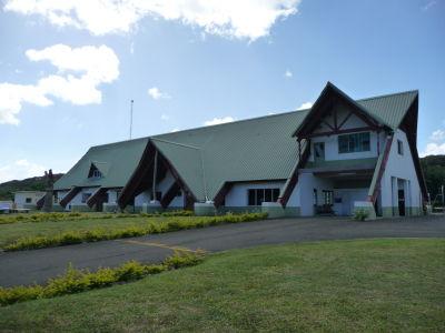 Letisková hala na ostrove Tanna
