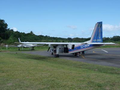 Zaparkované lietadielko na Tanne