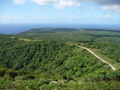 Výhľad na východné pobrežie ostrova