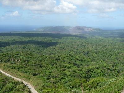 Pohľad na sopku Mt. Yasur v diaľke
