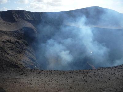 Výbuch v kráteri