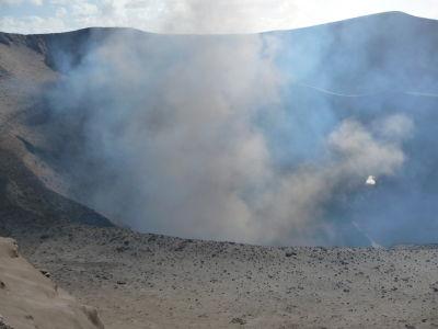 Výbuch v kráteri sopky Yasur