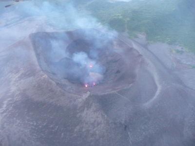 Ohníky v kráteri sopky Yasur