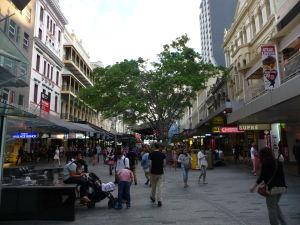 Brisbane - Pešia zóna Queen St