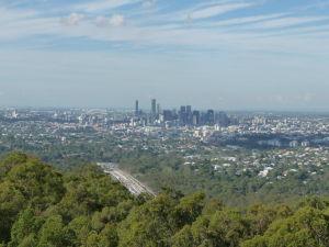 Výhľad z Mt. Coot-Tha na Brisbane