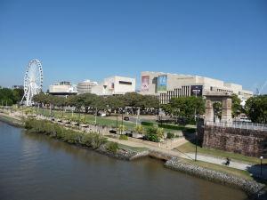 Brisbane - Južný breh - Brisbanské koleso a divadlo