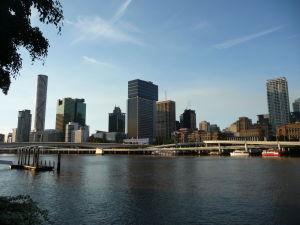Brisbane - Južný breh - Výhľad na centrum