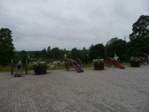 Uppsalský hrad - Nádvorie