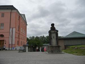 Uppsalský hrad - Busta zakladateľa hradu, kráľa Gustava I.