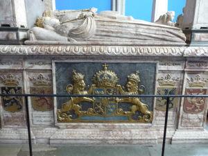 Uppsalská katedrála - Hrob kráľa Gustava I. z dynastie Vasa