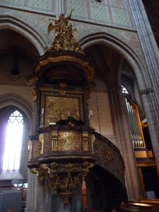 Uppsalská katedrála - Kazateľnica