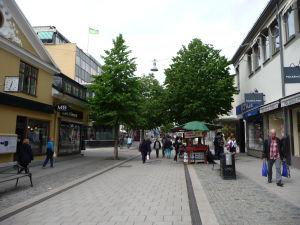 V uliciach Uppsaly - Pešia zóna