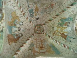 Fresky v Kostole sv. Kríža v Hattule - fresky v stredoveku rozprávali biblické príbehy obyvateľstvu, ktoré bolo väčšinou analfabetmi