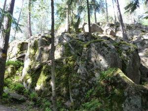 Skaliská v Národnom parku Nuuksio