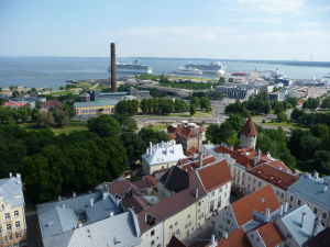 Výhľad z veže Kostola sv. Olafa - Pohľad na prístav