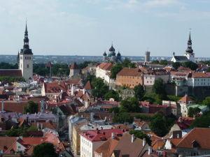Výhľad z veže Kostola sv. Olafa - Panoráma Tallinnu