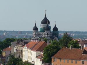 Výhľad z veže Kostola sv. Olafa - Pohľad na Chrám Alexandra Nevského