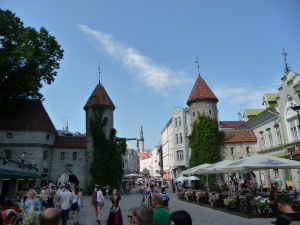 Tallinnské hradby - Brána Viru Väravad