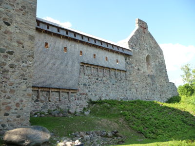 Starý stredoveký hrad v Sigulde