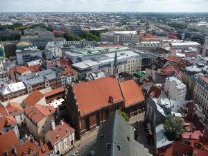 Chrám sv. Petra - Výhľad na Rigu