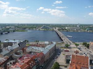Chrám sv. Petra - Výhľad na Rigu a rieku Daugava