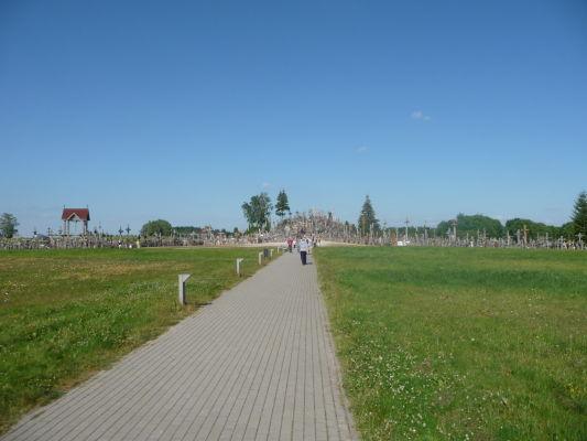 Hora krížov v Litve - príchodová cesta