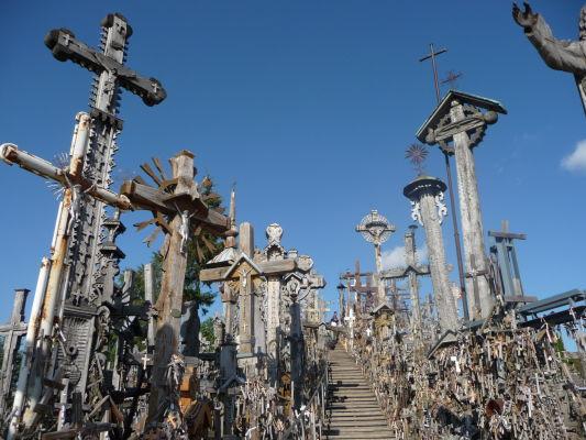 Hora krížov v Litve - centrálne schodisko