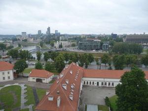 Pohľad na Vilnius zo starého hradu