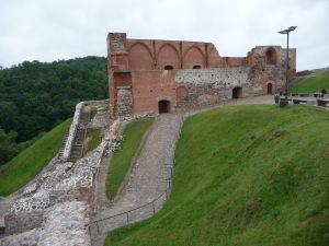 Ruiny starého hradu vo Vilniuse
