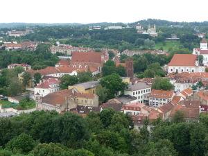 Pohľad na Vilnius z Gediminasovej veže