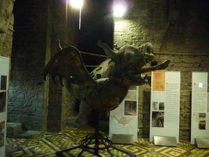 Jeden z pôvodných dráčikov z ghentskej zvonice