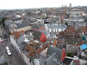 Pohľad zo zvonice na Ghent