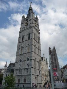 Gentská radničná veža - zvnoica