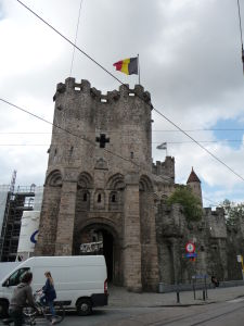 Grófsky hrad (Gravensteen) - bohužiaľ tá dodávka tam parkovala trvale